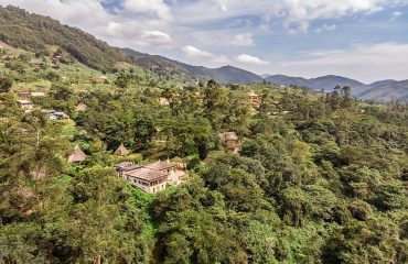 Bwindi Volcanoes Lodge occupies an enviable position on the edge of Bwindi Impenetrable Forest.