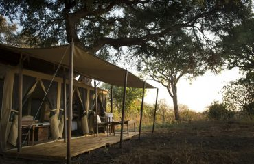 The tents at Chada Katavi offer authentic bush luxury.