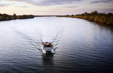 Motorboat safaris are one of the many activities in the Kafue