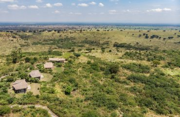 Kyambura Gorge Lodge is located on the perimeter of Queen Elizabeth National Park.
