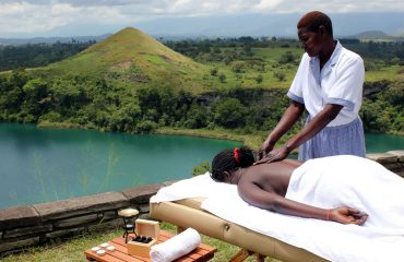 Indulge in total relaxation with a massage overlooking the volcanic crater.
