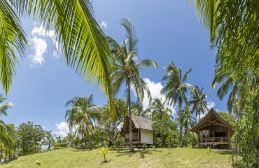 Bungalows are hidden in the natural vegetation ensuring privacy for guests.