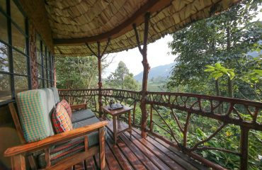 Start the day with a locally sourced coffee overlooking the forest on your private terrace