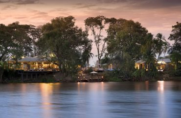 Thorntree River Lodge commands a serene position on the banks of the Zambezi River, upstream from the mighty Victoria Falls.