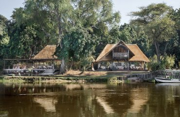 The main areas at Chiawa Camp offer serene views over the slow moving Zambezi River.