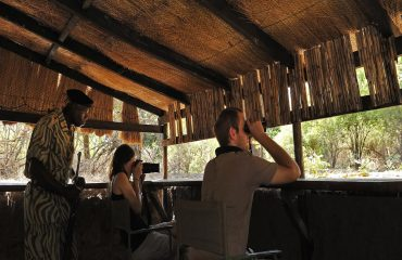 The hide at Chiawa Camp allows you to view wildlife from a different perspective.