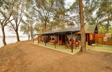 Authentic tented chalets overlooking the Zambezi River