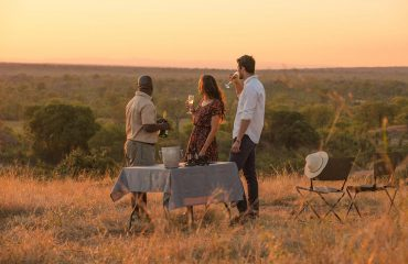 Sundowners to mark the end of another day in the bush