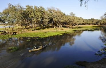 Explore the vast waterways of the Lower Zambezi by canoe