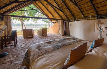 A room with a view at Nkwali Camp
