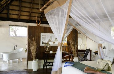 Beautifully appointed interiors at Chiawa Camp