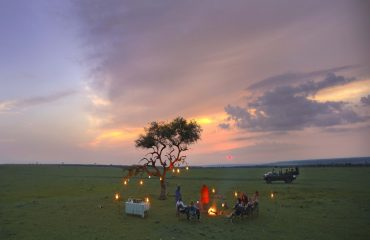 Enjoy sundowners in the middle of the African bush