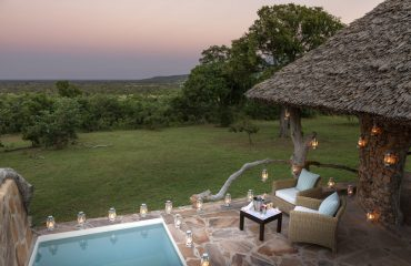 Relax in your plunge pool whilst looking out for interesting game passing through camp.