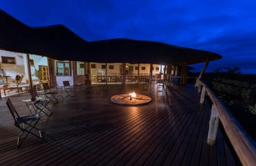 Tau Pan's main deck is the perfect place to watch the night sky and listen to the sounds of the bush whilst sitting around the campfire.