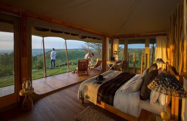 Loisaba Tented Camp offers spacious double rooms all with spectacular views
