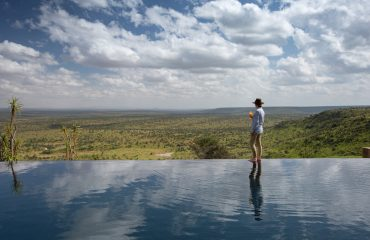 Loisaba Tented Camp's spectacular infinity pool