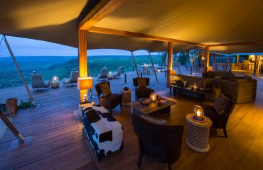 The main lounge at Loisaba Tented Camp affords truly spectacular vistas