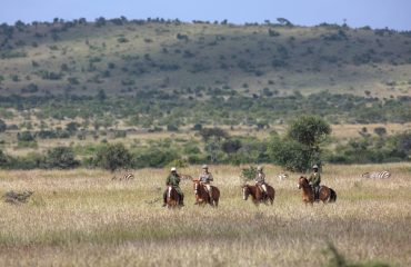 Horseback safari in the Loisaba Conservancy