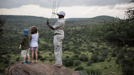 Your children will love tracking lions for the purpose of conservation in the Loisaba Conservancy