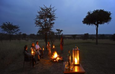 Nothing beats swapping safari stories around a crackling campfire