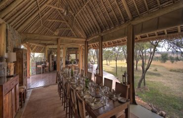 Enjoy a fine dining experience at Naboisho Camp