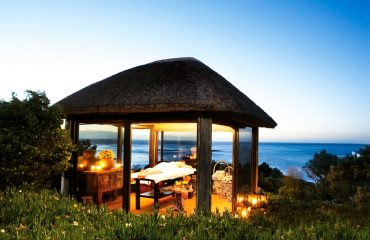 Enjoy a massage with a difference at the outdoor spa hut