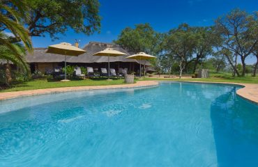 The Jackalberry Lodge pool. A perfect place to relax in between safari activities.