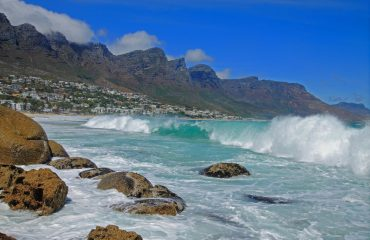 The Twelve Apostles mountain range provides an impressive backdrop for the beaches of Camps Bay, Bakoven and Oudekraal